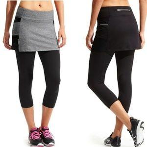 Athleta Be Free 2 in 1 Capri pants workout running